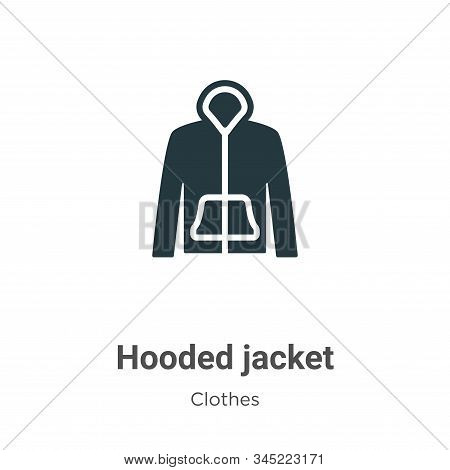 Hooded Jacket Vector Icon On White Background. Flat Vector Hooded Jacket Icon Symbol Sign From Moder