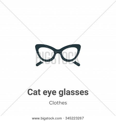 Cat eye glasses icon isolated on white background from clothes collection. Cat eye glasses icon tren