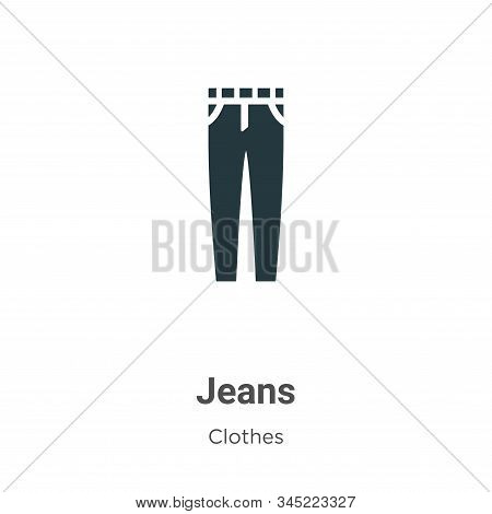 Jeans icon isolated on white background from clothes collection. Jeans icon trendy and modern Jeans
