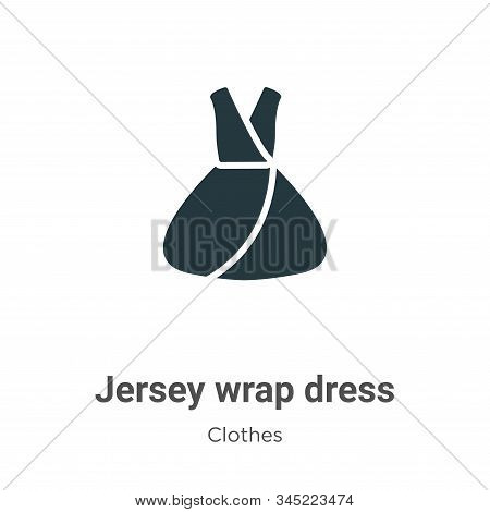 Jersey wrap dress icon isolated on white background from clothes collection. Jersey wrap dress icon