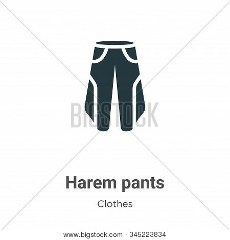 Harem pants icon isolated on white background from clothes collection. Harem pants icon trendy and m
