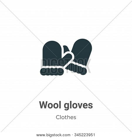 Wool gloves icon isolated on white background from clothes collection. Wool gloves icon trendy and m