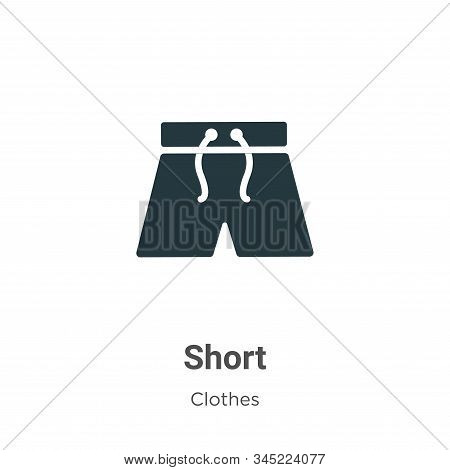 Short icon isolated on white background from clothes collection. Short icon trendy and modern Short
