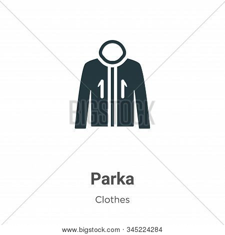Parka icon isolated on white background from clothes collection. Parka icon trendy and modern Parka