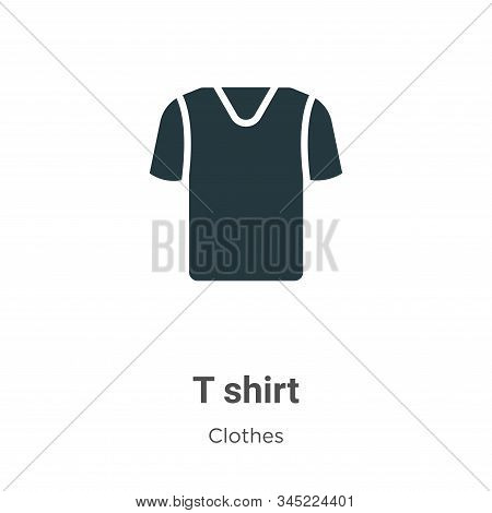 T shirt icon isolated on white background from clothes collection. T shirt icon trendy and modern T