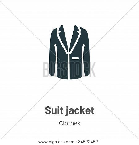 Suit Jacket Vector Icon On White Background. Flat Vector Suit Jacket Icon Symbol Sign From Modern Cl