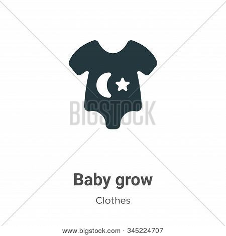 Baby grow icon isolated on white background from clothes collection. Baby grow icon trendy and moder