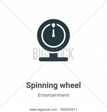 Spinning wheel icon isolated on white background from entertainment collection. Spinning wheel icon