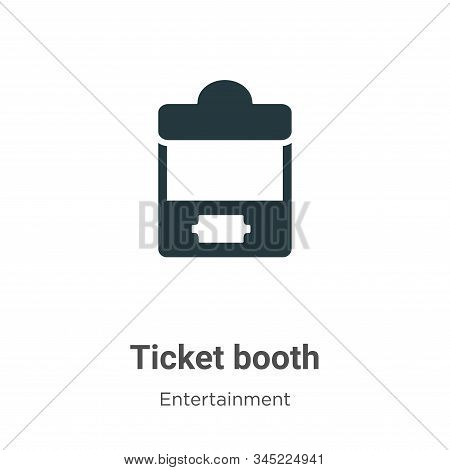 Ticket Booth Vector Icon On White Background. Flat Vector Ticket Booth Icon Symbol Sign From Modern