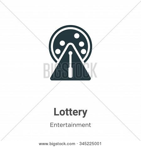 Lottery icon isolated on white background from entertainment collection. Lottery icon trendy and mod