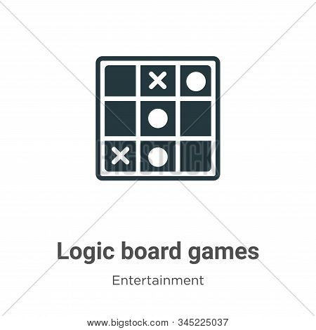 Logic board games icon isolated on white background from entertainment collection. Logic board games