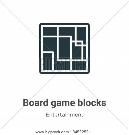 Board game blocks icon isolated on white background from entertainment collection. Board game blocks