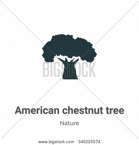 American chestnut tree icon isolated on white background from nature collection. American chestnut t