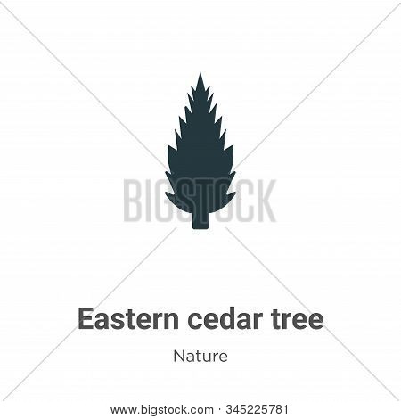 Eastern redcedar tree icon isolated on white background from nature collection. Eastern redcedar tre