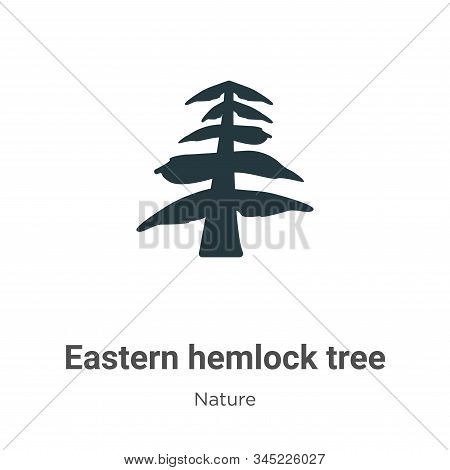 Eastern hemlock tree icon isolated on white background from nature collection. Eastern hemlock tree