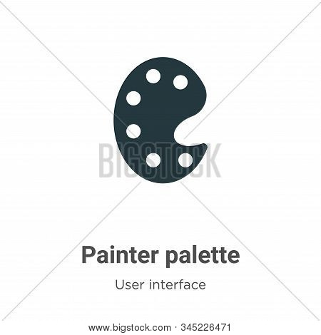 Painter palette icon isolated on white background from user interface collection. Painter palette ic
