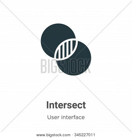 Intersect icon isolated on white background from user interface collection. Intersect icon trendy an