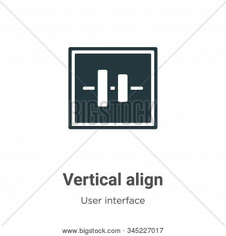 Vertical align icon isolated on white background from user interface collection. Vertical align icon
