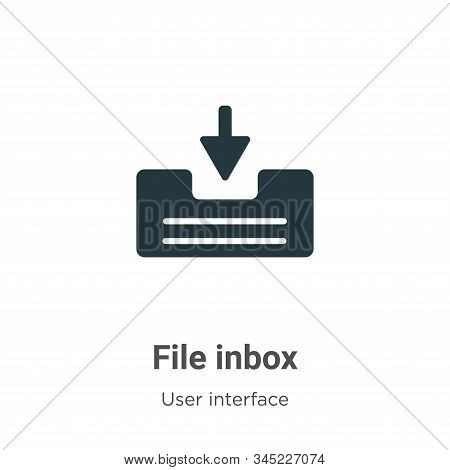 File inbox icon isolated on white background from user interface collection. File inbox icon trendy