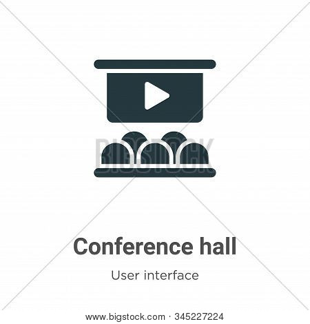 Conference Hall Vector Icon On White Background. Flat Vector Conference Hall Icon Symbol Sign From M