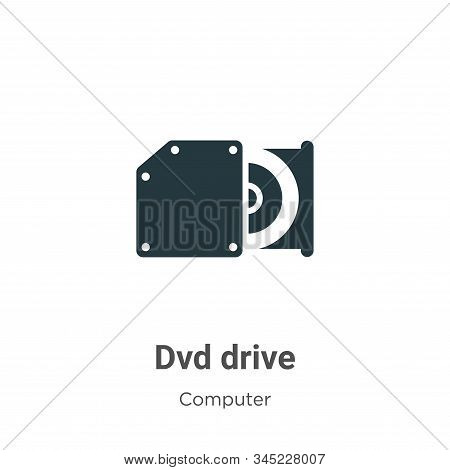 Dvd Drive Vector Icon On White Background. Flat Vector Dvd Drive Icon Symbol Sign From Modern Comput