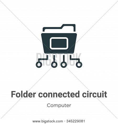 Folder connected circuit icon isolated on white background from computer collection. Folder connecte
