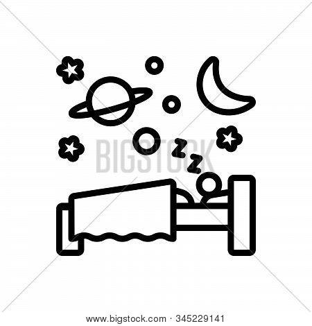 Black Line Icon For Sleep Slumber Somnolence Shut-eye Dormancy Blink