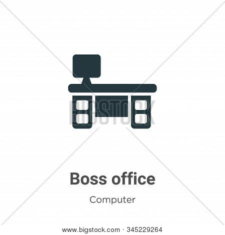 Boss office icon isolated on white background from computer collection. Boss office icon trendy and