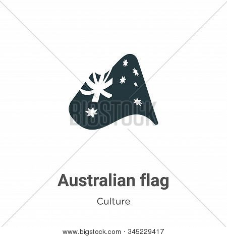 Australian flag icon isolated on white background from culture collection. Australian flag icon tren