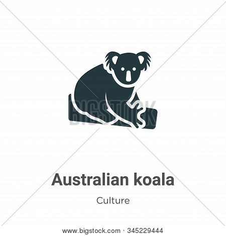 Australian koala icon isolated on white background from culture collection. Australian koala icon tr