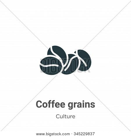 Coffee Grains Vector Icon On White Background. Flat Vector Coffee Grains Icon Symbol Sign From Moder