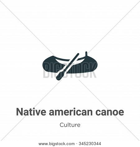 Native american canoe icon isolated on white background from culture collection. Native american can