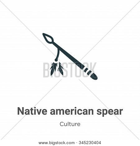 Native american spear icon isolated on white background from culture collection. Native american spe
