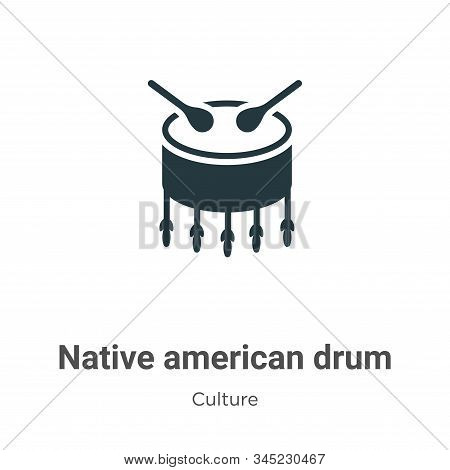 Native american drum icon isolated on white background from culture collection. Native american drum