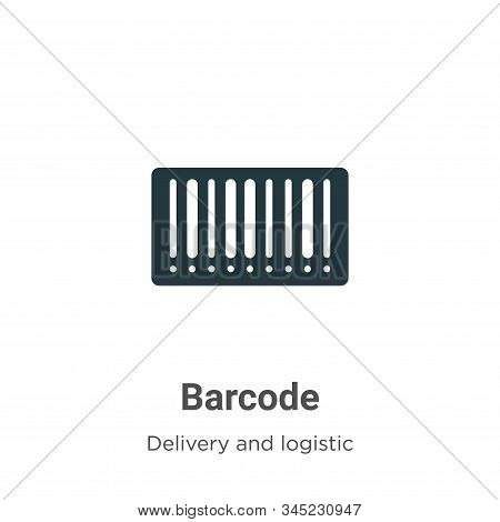 Barcode icon isolated on white background from delivery and logistic collection. Barcode icon trendy
