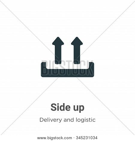 Side up icon isolated on white background from delivery and logistic collection. Side up icon trendy