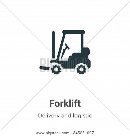 Forklift icon isolated on white background from delivery and logistic collection. Forklift icon tren