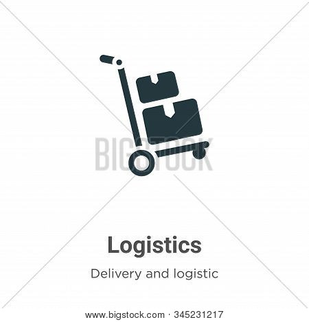 Logistics icon isolated on white background from delivery and logistic collection. Logistics icon tr