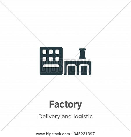 Factory icon isolated on white background from delivery and logistic collection. Factory icon trendy