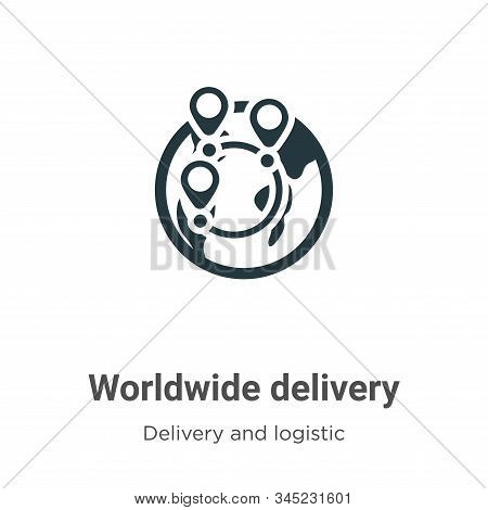 Worldwide delivery icon isolated on white background from delivery and logistics collection. Worldwi
