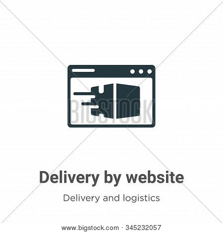 Delivery by website icon isolated on white background from delivery and logistics collection. Delive