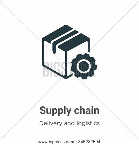 Supply Chain Vector Icon On White Background. Flat Vector Supply Chain Icon Symbol Sign From Modern