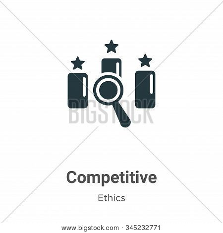 Competitive icon isolated on white background from ethics collection. Competitive icon trendy and mo