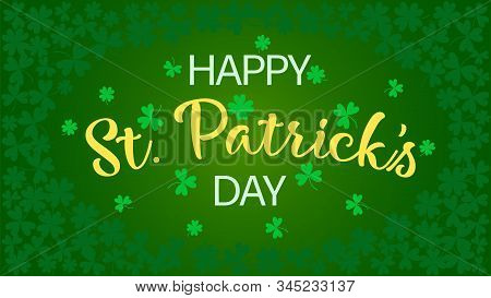 Happy St. Patricks Day. Irish Holiday Illustration. Spring Decoration. Vector Graphic. Irish Symbol.