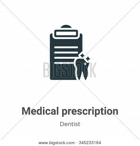 Medical prescription icon isolated on white background from dentist collection. Medical prescription
