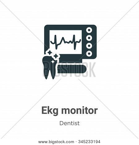Ekg monitor icon isolated on white background from dentist collection. Ekg monitor icon trendy and m