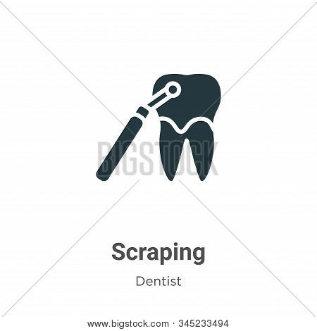 Scraping icon isolated on white background from dentist collection. Scraping icon trendy and modern