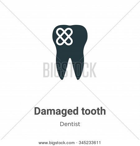 Damaged tooth icon isolated on white background from dentist collection. Damaged tooth icon trendy a