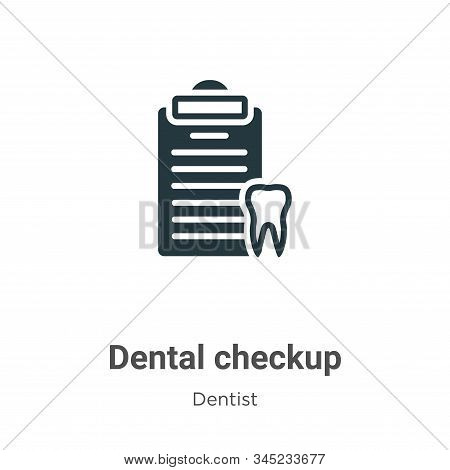 Dental Checkup Vector Icon On White Background. Flat Vector Dental Checkup Icon Symbol Sign From Mod