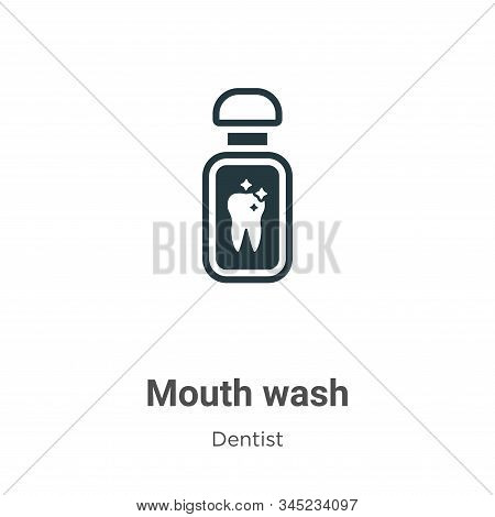 Mouth Wash Vector Icon On White Background. Flat Vector Mouth Wash Icon Symbol Sign From Modern Dent